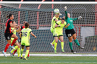Rochester, NY - Saturday July 09, 2016: Seattle Reign FC goalkeeper Andi Tostanoski (24) during a regular season National Women's Soccer League (NWSL) match between the Western New York Flash and the Seattle Reign FC at Frontier Field.