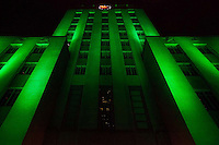 Houston City Hall on St. Patricks Day, 2012