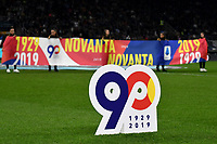 serie A banners for the 90th anniversary. <br /> Milano 6-10-2019 Stadio Giuseppe Meazza <br /> Football Serie A 2019/2020 <br /> FC Internazionale - Juventus FC <br /> Photo Andrea Staccioli / Insidefoto