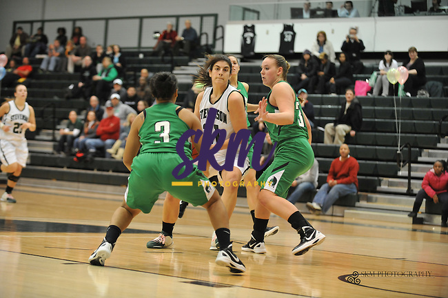 On a night where the Seniors were celebrated as they took the court for their final home game, the Mustangs were unable to stop the York Spartans from dominating the game. The Spartans easily handed the Mustangs a 73 - 39 defeat.