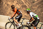 Pieter Weening (NED) Roompot-Nederlandse Loterij and Jacques Janse van Rensburg (RSA) Team Dimension Data part of the breakaway group climb during Stage 4 of the 2018 Tour of Oman running 117.5km from Yiti (Al Sifah) to Ministry of Tourism. 16th February 2018.<br /> Picture: ASO/Muscat Municipality/Kare Dehlie Thorstad | Cyclefile<br /> <br /> <br /> All photos usage must carry mandatory copyright credit (&copy; Cyclefile | ASO/Muscat Municipality/Kare Dehlie Thorstad)
