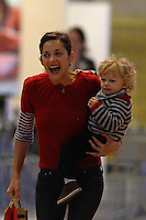 Guillaume Canet, Marion Cotillard and their son Marcel attend to the Gucci Masters show in Paris