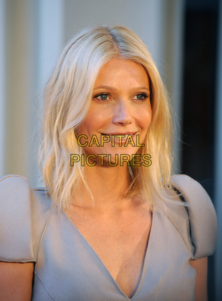 "GWYNETH PALTROW.The West Coast Premiere of ""Valentino: The Last Emperor"" held at LACMA in Los Angeles, California, USA..April 1st, 2009.headshot portrait grey gray .CAP/DVS.©Debbie VanStory/Capital Pictures."