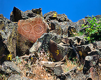 "She Who Watches or ""Tsagaglalal"" pictoglyph along Columbia River in Klickitat County, Washington"