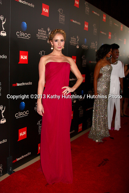 LOS ANGELES - JUN 16:  Ashley Jones arrives at the 40th Daytime Emmy Awards at the Skirball Cultural Center on June 16, 2013 in Los Angeles, CA