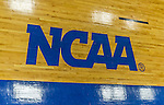 22 November 2015: The Yeshiva University Maccabees basketball court displays the NCAA Logo during a game against the Hunter College Hawks at the Max Stern Athletic Center  in New York, NY. The Maccabees defeated the Hawks 81-71 in non-conference play, for their second win of the season. Mandatory Credit: Ed Wolfstein Photo *** RAW (NEF) Image File Available ***