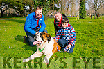 "At the St Patricks Day Dog show in aid of Recovery Haven in the Town Park on Thursday were ""Blaze"" with Pat Kelleher, Darragh Rahilly and Pa Rahilly."