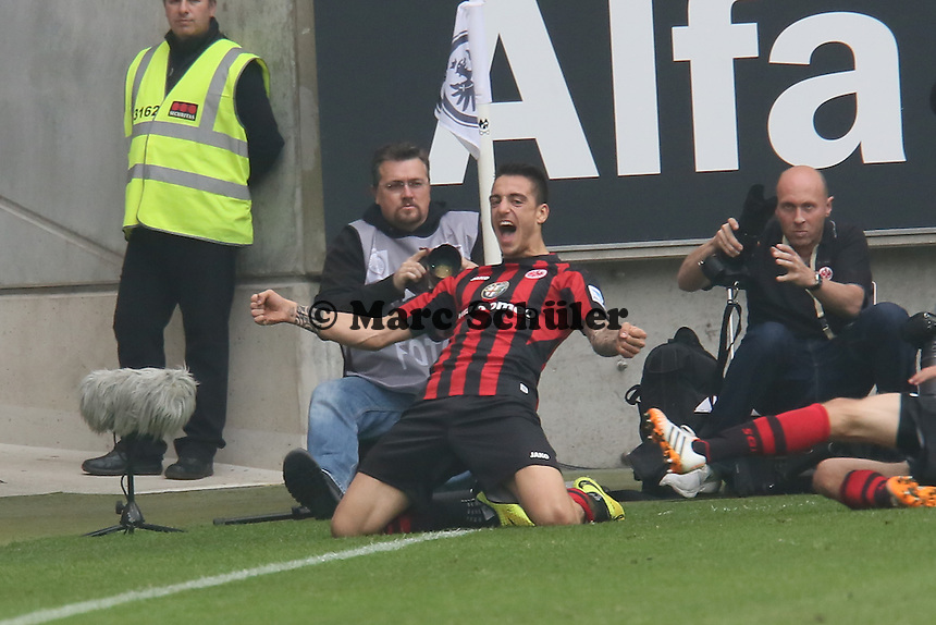 Torjubel Joselu (Eintracht) beim 1:0 - Eintracht Frankfurt vs. 1. FSV Mainz 05