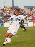 Homare Sawa of the Atlanta Beat picked up her 5th assist of the year on a goal by Cindy Parlow, as the Beat defeated the NY Power 2-0 on June 9th at Mitchel Athletic Complex, Uniondale, New York.