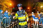 Dancing Garda Sergeant Tim O'Keeff in Denny Street on Tuesday night.