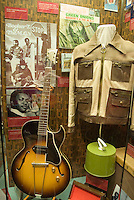 Memphis, Tennessee, February 2009. Booker T and the MG gibson guitar. The Soulsville USA Stax Museum is stuffed to the ceiling with exhibits from the blues, soul and rock 'n roll era, when the famous recording studio and record label made its fame. The city of Memphis is the place where Blues and Soul Music grew famous. Photo by Frits Meyst/Adventure4ever.com