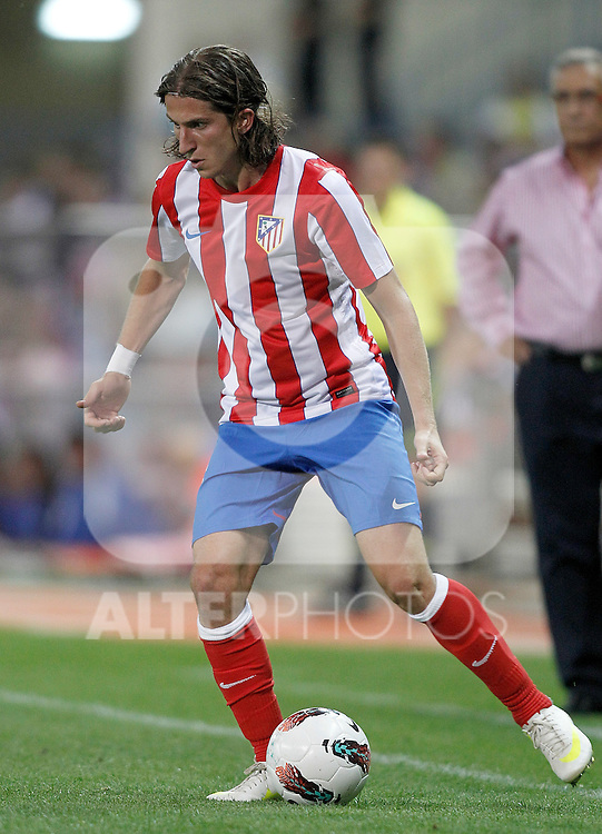 Atletico de Madrid's Filipe Luis during UEFA Europa League third qualifying round match. July 28, 2011. (ALTERPHOTOS/Alvaro Hernandez)