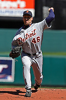 Detroit LHP Mike Maroth starts and gets the win against the Royals at Kauffman Stadium in Kansas City, Missouri on April 7, 2007.  The Tigers won 6-5.