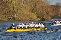 052 .KCH-Hanratty .J18A.8+ .Kings Sch Chester. Wallingford Head of the River. Sunday 27 November 2011. 4250 metres upstream on the Thames from Moulsford railway bridge to Oxford Universitiy's Fleming Boathouse in Wallingford. Event run by Wallingford Rowing Club..