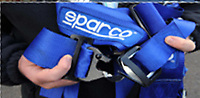 Pictured: One of the fake Sparco harnesses sold by Finbar Hannaford  <br /> Re: A man has admitted selling fake harnesses to amateur and semi-professional racing car drivers at Swansea Crown Court this week.<br /> Finbar Hannaford, aged 22, from Pembrey, sold more than 300 of the enhanced seatbelt systems before Carmarthenshire County Council's trading standards officers stepped in.<br /> The counterfeit harnesses bearing the Sabelt, Sparco and Takata brand names, were sold on eBay and Facebook, amongst a range of counterfeit car accessories and clothing.