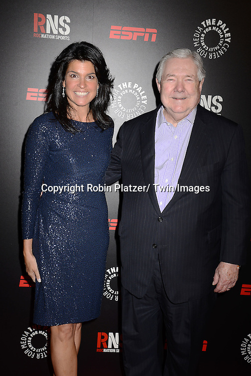 Maureen Reidy and Frank A Bennack, Jr attend The Paley Center for Media's Annual Benefit Dinner honoring ESPN' s 35th Anniversary on May 28, 2014 at 583 Park Avenue in New York City, NY, USA.