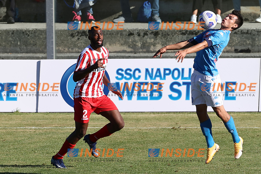 Hirving Lozano of SSC Napoli <br /> during the friendly football match between SSC Napoli and SS Teramo Calcio 1913 at stadio Patini in Castel di Sangro, Italy, September 04, 2020. <br /> Photo Cesare Purini / Insidefoto