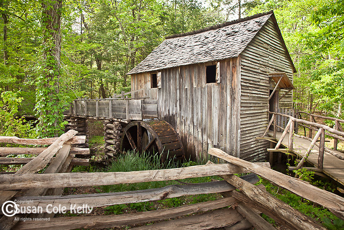 The John Cable Mill in Cades Cove, Great Smoky Mountains National Park, TN, USA