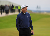 Huey Lewis (AM) on the 17th fairway during the 2015 Alfred Dunhill Links Championship at the Old Course in St. Andrews in Scotland on 4/10/15.<br /> Picture: Thos Caffrey | Golffile