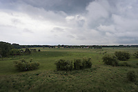Dronebillede taget ved Vallensb&aelig;k Landsby vest for K&oslash;benhavn.<br /> <br /> Foto: Jens Panduro
