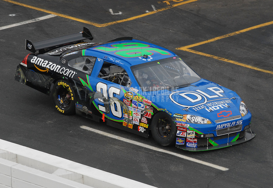 Apr 1, 2007; Martinsville, VA, USA; Nascar Nextel Cup Series driver Tony Raines (96) during the Goody's Cool Orange 500 at Martinsville Speedway. Martinsville marks the second race for the new car of tomorrow. Mandatory Credit: Mark J. Rebilas