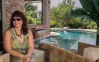 NWA Democrat-Gazette/JASON IVESTER --07/03/2015--<br /> Chrisitine Meier; photographed on Friday, July 3, 2015, in her favorite place, the pool behind her Springdale home