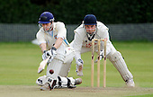 Scottish National Cricket League - Premier Div - Uddingston CC V Aberdeenshire at Bothwell Policies, Uddingston - Aberdeenshire's Neil MacRae sweeps the ball away past Uddingston keeper Bryan Clarke, on his way to a 76 run total - Picture by Donald MacLeod 24.07.10 - mobile 07702 319 738 - clanmacleod@btinternet.com