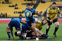 Blues' Augustine Pulu in action during the Super Rugby - Hurricanes v Blues at Westpac Stadium, Wellington, New Zealand on Saturday 7 July 2018.<br /> Photo by Masanori Udagawa. <br /> www.photowellington.photoshelter.com