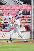 July 8, 2009: Tri-City Dust Devils' Kevin Clark at-bat during a Northwest League game against the Salem-Keizer Volcanoes at Volcanoes Stadium in Salem, Oregon.