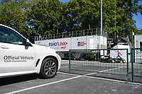Dustin Johnson (USA) plays a practical joke on Brooks Koepka (USA) by placing Koepka's nude photo from ESPN Magazine over his name plaque in his parking spot before round 2 of the 2019 Tour Championship, East Lake Golf Course, Atlanta, Georgia, USA. 8/23/2019.<br /> Picture Ken Murray / Golffile.ie<br /> <br /> All photo usage must carry mandatory copyright credit (© Golffile | Ken Murray)
