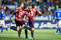 Fran M&eacute;rida (medium; CA Osasuna) during the Spanish la League soccer match between CA Osasuna and Real Oviedo at Sadar stadium, in Pamplona, Spain, on Saturday, <br /> May 12, 2018.