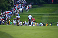 Bethesda, MD - June 27, 2014: Tiger Woods walks to his lie on hole 2 of the Quicken Loans National at the Congressional Country Club in Bethesda, MD., June 27, 2014.  (Photo by Don Baxter/Media Images International)