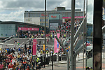 Westfield Shopping Centre Stratford City, Gateway to the London Olympics, East London Olympic crowds arriving. 2012