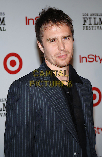 SAM ROCKWELL.2005 Los Angeles Film Festival - Spirit of Independence Awards, Westwood, CA.June 25th, 2005.Photo credit: Jacqui Wong/AdMedia.headshot portrait pinstripe facial hair stubble.www.capitalpictures.com.sales@capitalpictures.com.© Capital Pictures.