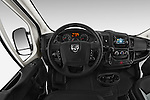 Car pictures of steering wheel view of a 2014 Ram ProMaster 1500 118 WB Low Roof 2 Door Cargo Van