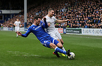 Queens Park Rangers' Conor Washington is tackled by Cardiff City's Sean Morrison<br /> <br /> Photographer /Rob NewellCameraSport<br /> <br /> The EFL Sky Bet Championship - Queens Park Rangers v Cardiff City - Saturday 4th March 2017 - Loftus Road - London<br /> <br /> World Copyright &copy; 2017 CameraSport. All rights reserved. 43 Linden Ave. Countesthorpe. Leicester. England. LE8 5PG - Tel: +44 (0) 116 277 4147 - admin@camerasport.com - www.camerasport.com