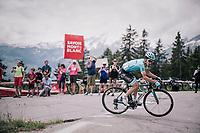 eventual stage winner Pello Bilbao (ESP/Astana) solo's up the last climb of the day<br /> <br /> Stage 6: Frontenex > La Rosière Espace San Bernardo (110km)<br /> 70th Critérium du Dauphiné 2018 (2.UWT)