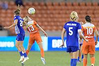 Houston, TX - Sunday Sept. 11, 2016: Angela Salem, Denise O'Sullivan during a regular season National Women's Soccer League (NWSL) match between the Houston Dash and the Boston Breakers at BBVA Compass Stadium.