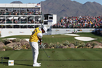 Tony Finau (USA) In action during the final round of the Waste Management Phoenix Open, TPC Scottsdale, Phoenix, Arizona, USA. 01/02/2020<br /> Picture: Golffile | Phil INGLIS<br /> <br /> <br /> All photo usage must carry mandatory copyright credit (© Golffile | Phil Inglis)