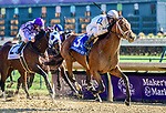 November 3, 2018: Audible #3, ridden by Javier Castellano, wins the 1st running of the Qatar Cherokee Run Stakes on Breeders' Cup World Championship Saturday at Churchill Downs on November 3, 2018 in Louisville, Kentucky. Jessica Morgan/Eclipse Sportswire/CSM