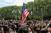 NEW YORK, NEW YORK - JUNE 04: People Gather in Cadman Plaza For a memorial service demonstrating the death of George Floyd on June 4, 2020 in Brooklyn, New York. Floyd's death, the most recent in a series of deaths of black Americans at the hands of the police, has set off days and nights of protests across the country. (Photo by Pablo Monsalve / VIEWpress via Getty Images)
