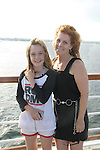 Guiding Light's Liz Keifer and daughter Bella - Day 1 July 31, 2010 - So Long Springfield at Sea - A Final Farewell To Guiding Light sets sail from NYC to St. John, New Brunwsick and Halifax, Nova Scotia from July 31 to August 5, 2010  aboard Carnival's Glory (Photos by Sue Coflin/Max Photos)