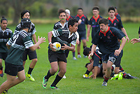 Action from the 2019 Hurricanes Youth Council Under-15 Boys' Rugby Tournament match between Taita College and Feilding High School at St Patrick's College Silverstream in Upper Hutt, New Zealand on Wednesday, 4 September 2018. Photo: Dave Lintott / lintottphoto.co.nz