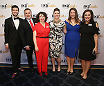 Ethan Hardy, Dustin Sparks, BeccaKleinman, Tessa Raden Gregory, Allison Gold and Jamie Balsai attends the cocktail party for the Dramatists Guild Foundation 2018 dgf: gala at the Manhattan Center Ballroom on November 12, 2018 in New York City.