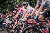 Maglia Rosa / overall leader Chris Froome (GBR/SKY) rolling out one last time in this Giro<br /> <br /> stage 21: Roma - Roma (115km)<br /> 101th Giro d'Italia 2018