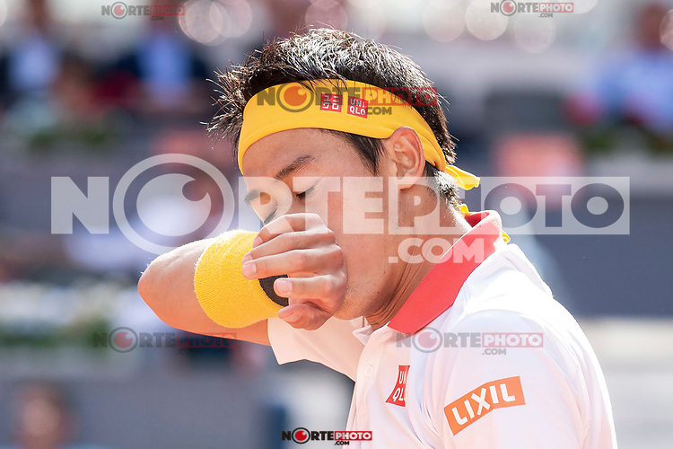 Japanese Kei Nishikori during Mutua Madrid Open 2018 at Caja Magica in Madrid, Spain. May 07, 2018. (ALTERPHOTOS/Borja B.Hojas) /NortePhoto.com