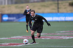 SALEM, VA - DECEMBER 3:Ian Adams (2) of Calvin College races up the field during theDivision III Men's Soccer Championship held at Kerr Stadium on December 3, 2016 in Salem, Virginia. Tufts defeated Calvin 1-0 for the national title. (Photo by Kelsey Grant/NCAA Photos)
