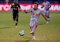 16th July 2020, Orlando, Florida, USA;  New York Red Bulls midfielder Marc Rzatkowski (90) shoots during the MLS Is Back Tournament between the Columbus Crew SC versus New York Red Bulls on July 16, 2020 at the ESPN Wide World of Sports, Orlando FL.