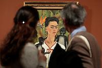 Autoritratto con scimmie - Self portrait with monkeys<br /> Roma 18-03-2014 Scuderie del Quirinale. Inaugurazione vernissage della mostra dedicata a Frida Kahlo.<br /> Opening of the exhibition of Frida Kahlo.<br /> Photo Samantha Zucchi Insidefoto