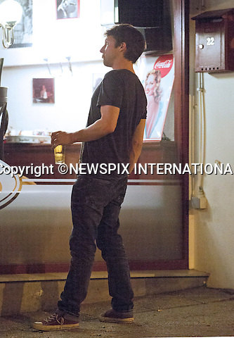 EXCLUSIVE!<br /> &quot;Must telephone +441279 324672 For Reproduction Fees/Usage&quot;<br /> <br /> JAMES BLUNT AND FIANCEE SOPHIE WELLESLEY<br /> The singer was seen enjoying several drinks in a local bar after his concert performance.<br /> His finacee Sophie, the grand-daughther of the Duke of Wellington accompanied him on his visit to the city.<br /> The couple although rumoured to have secretly married are due to tie the knot at the family stately home soon_Brussels, April 2, 2014.<br /> Mandatory Credit Photos: &copy;NEWSPIX INTERNATIONAL<br /> <br /> **ALL FEES PAYABLE TO: &quot;NEWSPIX INTERNATIONAL&quot;**<br /> <br /> PHOTO CREDIT MANDATORY!!: NEWSPIX INTERNATIONAL(Failure to credit will incur a surcharge of 100% of reproduction fees)<br /> <br /> IMMEDIATE CONFIRMATION OF USAGE REQUIRED:<br /> Newspix International, 31 Chinnery Hill, Bishop's Stortford, ENGLAND CM23 3PS<br /> Tel:+441279 324672  ; Fax: +441279656877<br /> Mobile:  0777568 1153<br /> e-mail: info@newspixinternational.co.uk